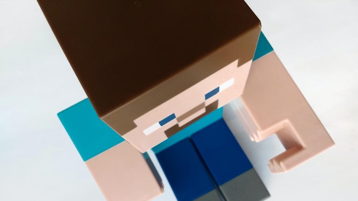 Postavička z legendární hry Minecraft.